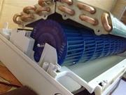 Расходные материалы: компрессор, радиатор и медные трубы для кондиционера