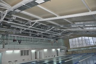 Здание с плавательным бассейном длиной 25м в районном центре Измалково Липецкой области